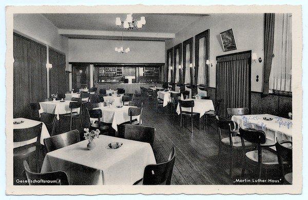 Gesellschaftsraum in den 1950er Jahren